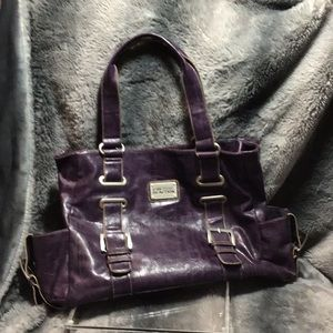 Kenneth Cole purple leather tote